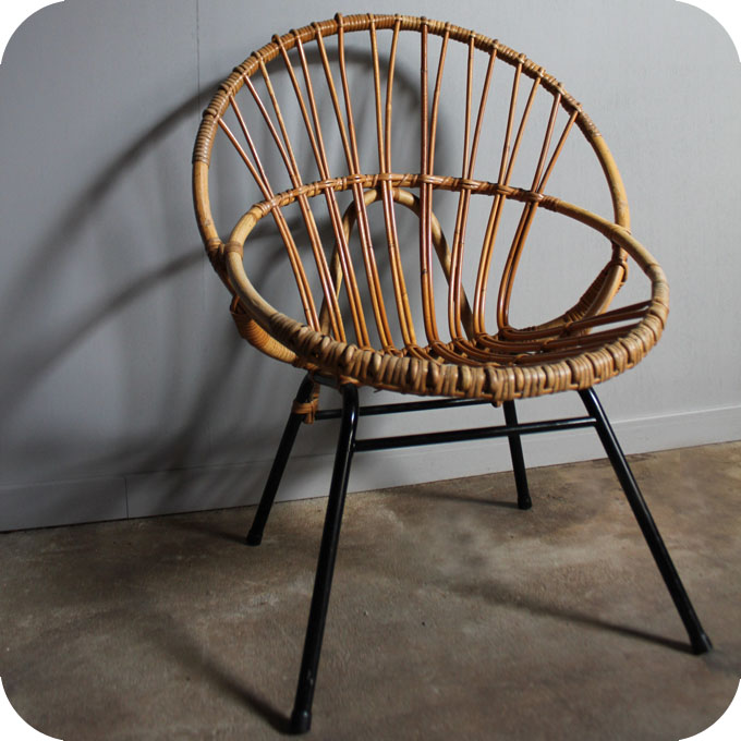fauteuil rotin 50 atelier du petit parc. Black Bedroom Furniture Sets. Home Design Ideas
