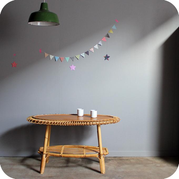 Table Basse Rotin Vintage C264 Atelier Du Petit Parc