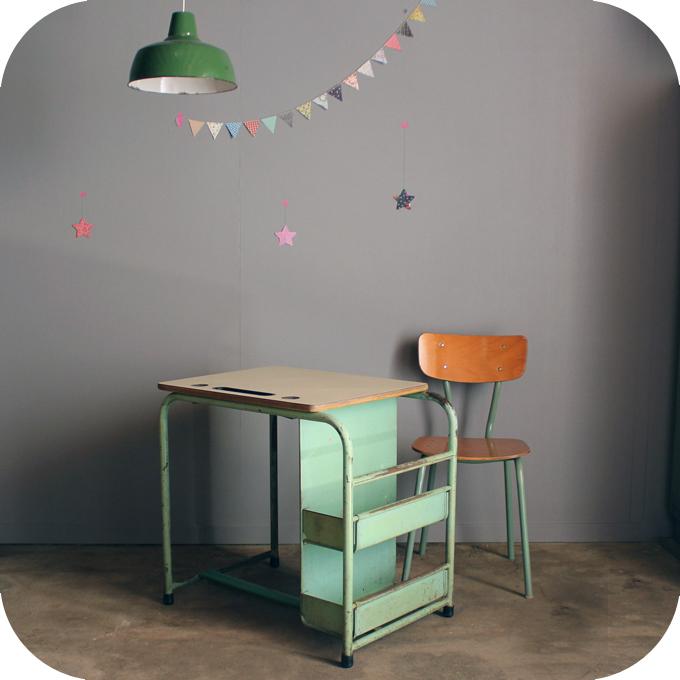 Bureau vintage enfant m tal c293 atelier du petit parc - Bureau enfant belgique ...