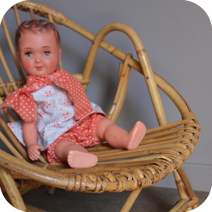 fauteuil rotin enfant mobilier vintage atelier du petit parc. Black Bedroom Furniture Sets. Home Design Ideas