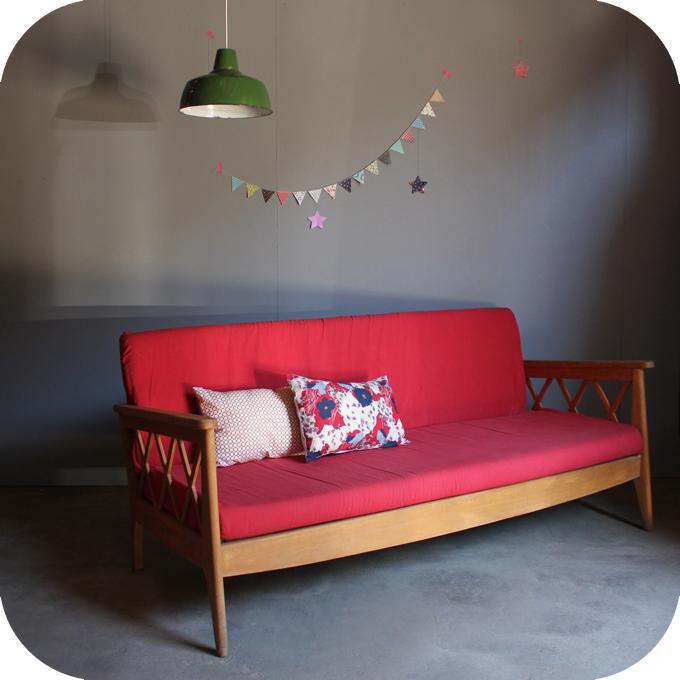 banquette canap vintage c453 atelier du petit parc. Black Bedroom Furniture Sets. Home Design Ideas