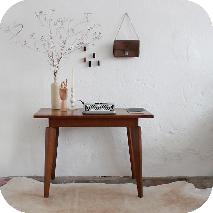 table d 39 appoint bureau vintage ann es 50 atelier du petit parc. Black Bedroom Furniture Sets. Home Design Ideas