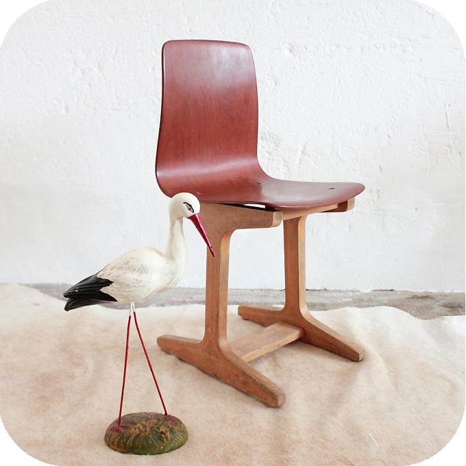 chaise enfant pagholz vintage atelier du petit parc. Black Bedroom Furniture Sets. Home Design Ideas