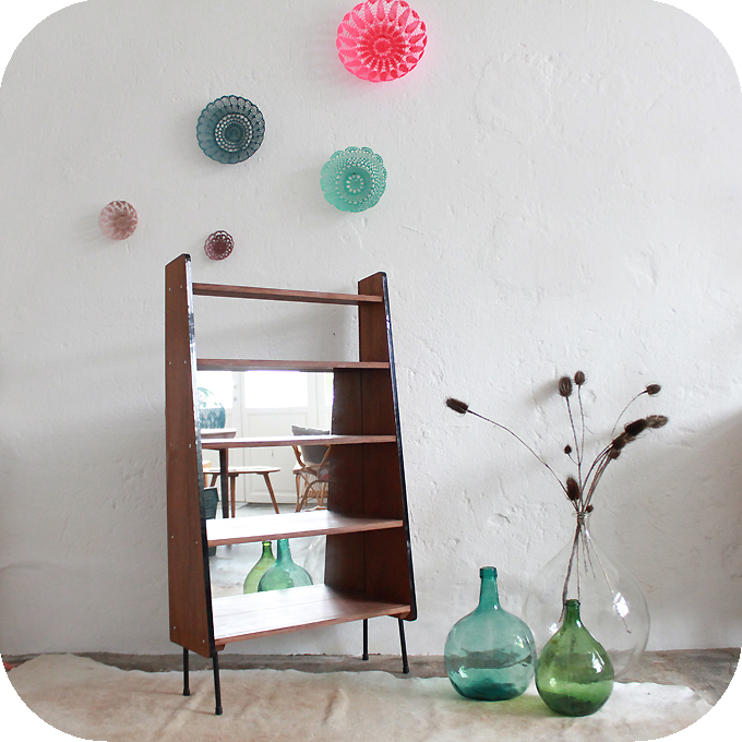 mobilier vintage biblioth que 50 guariche atelier du petit parc. Black Bedroom Furniture Sets. Home Design Ideas