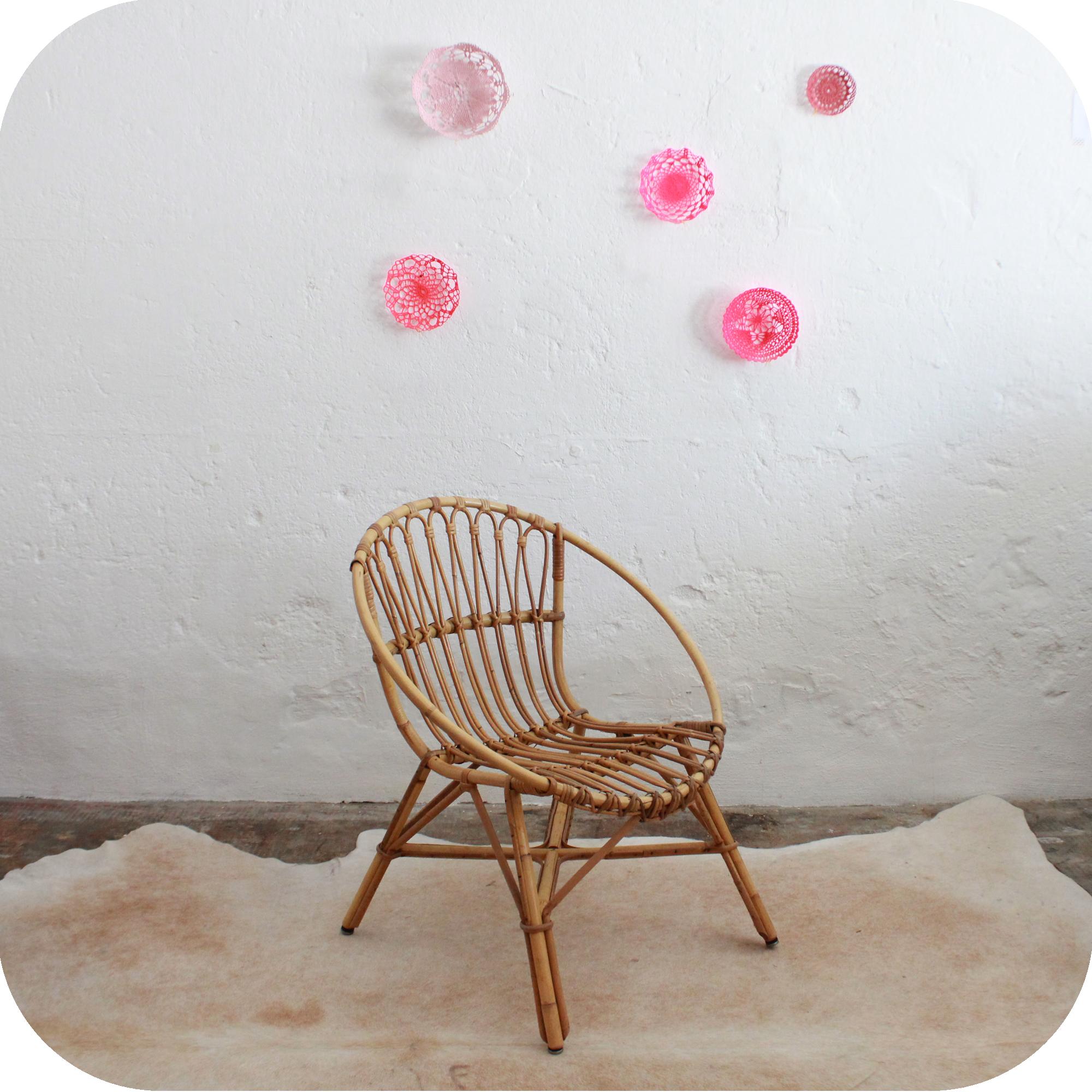 D531 mobilier vintage fauteuil rotin retro b atelier du for Mobilier retro