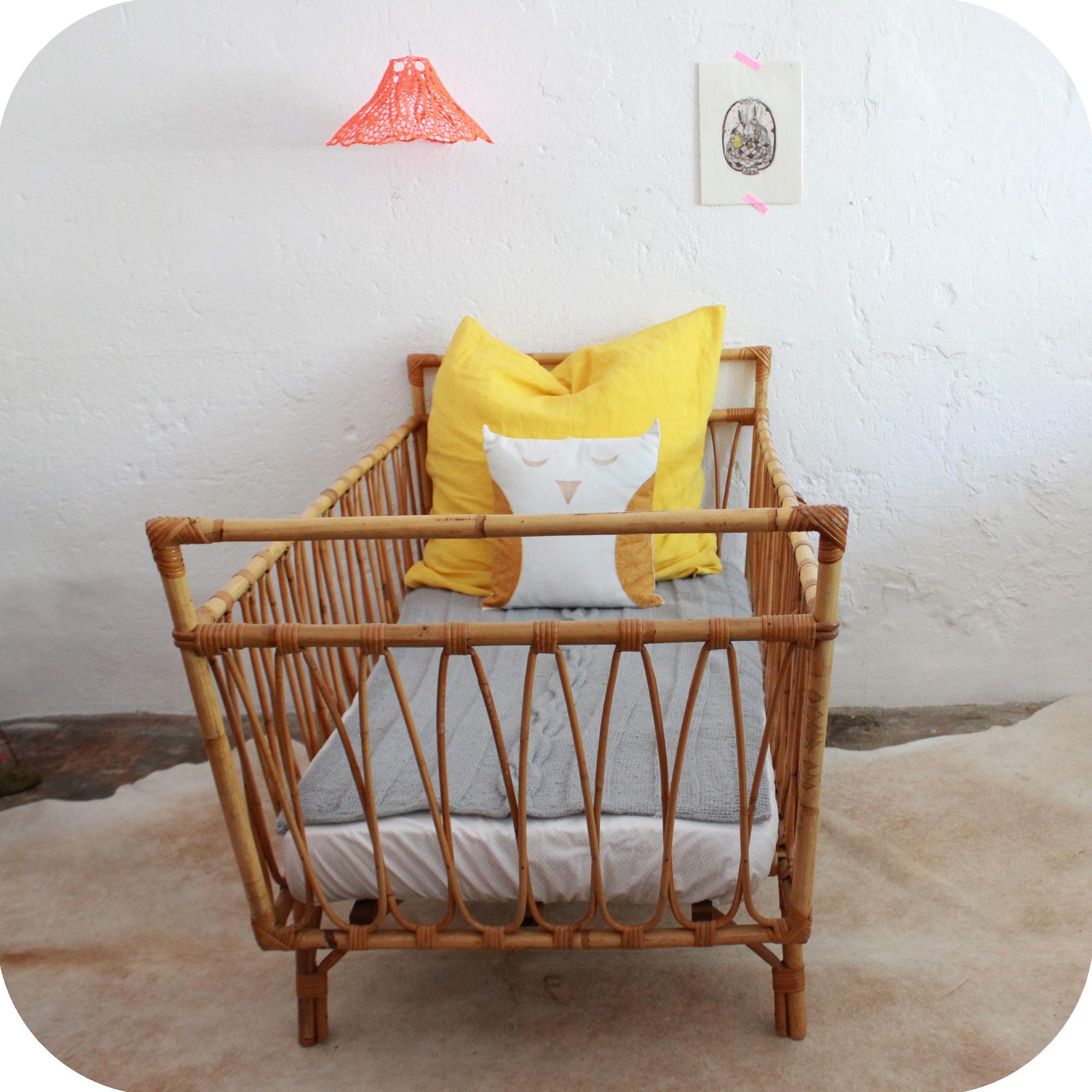 D538 mobilier vintage lit vintage enfant c atelier du for Mobilier lit