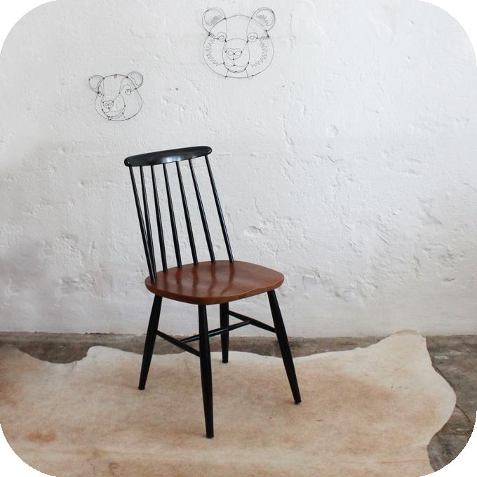 Chaise tapiovaara scandinave vintage atelier du petit parc for Chaise style atelier