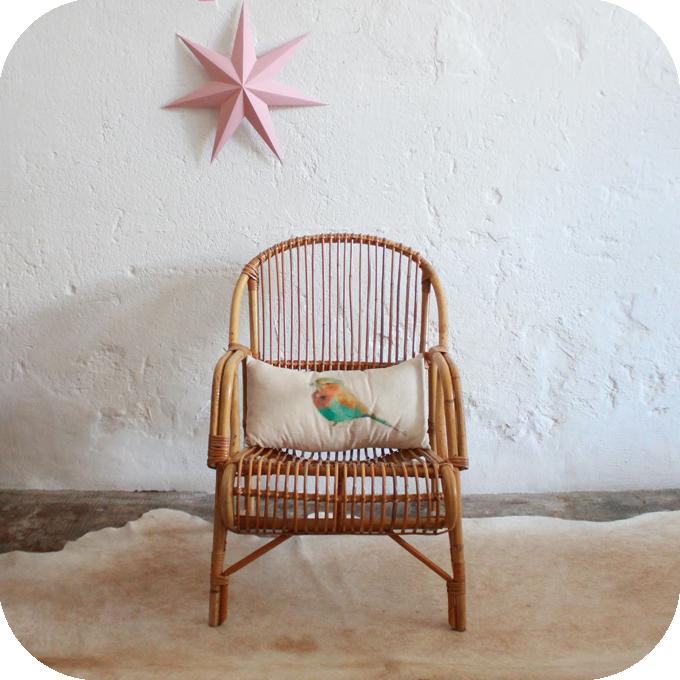 berceau b b rotin ancien atelier du petit parc. Black Bedroom Furniture Sets. Home Design Ideas