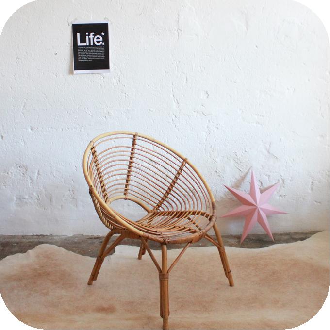 D566 fauteuil rotin vintage meuble vintage nantes b atelier du petit parc - Meuble vintage nantes ...