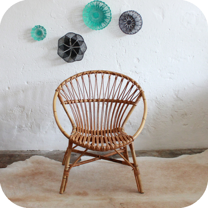 fauteuil vintage rotin ann es 60 atelier du petit parc. Black Bedroom Furniture Sets. Home Design Ideas