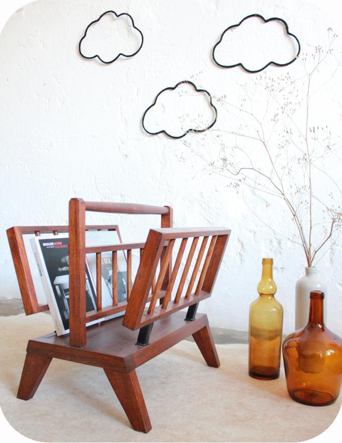 b464 porte revues vintage scandinave teck f atelier du petit parc. Black Bedroom Furniture Sets. Home Design Ideas