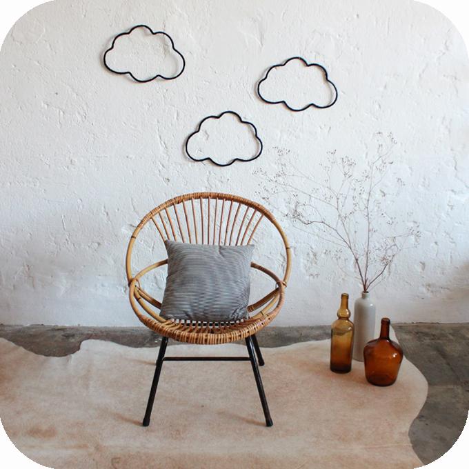 fauteuil rotin ann es 50 fifties sixties vintage atelier. Black Bedroom Furniture Sets. Home Design Ideas
