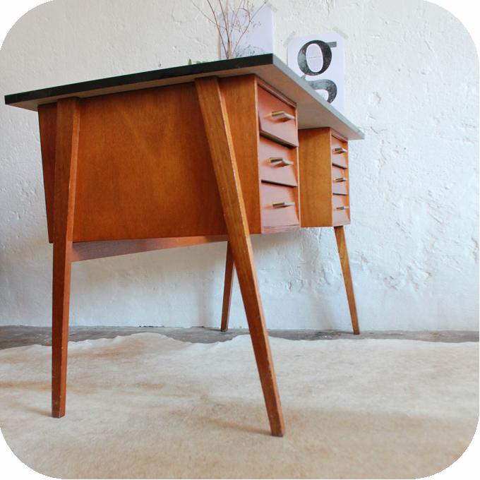 D514 bureau vintage ann es 60 f atelier du petit parc - Bureau annee 60 ...