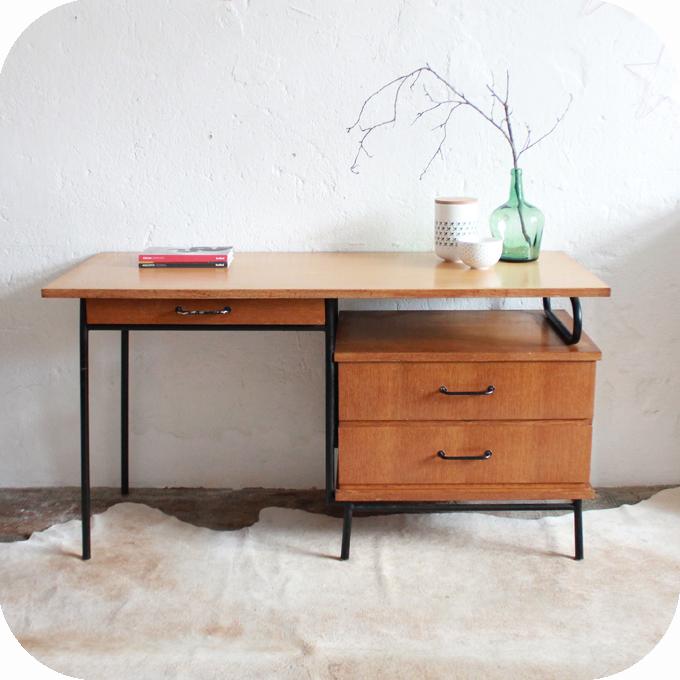 bureau moderniste vintage jacques hitier atelier du petit parc. Black Bedroom Furniture Sets. Home Design Ideas