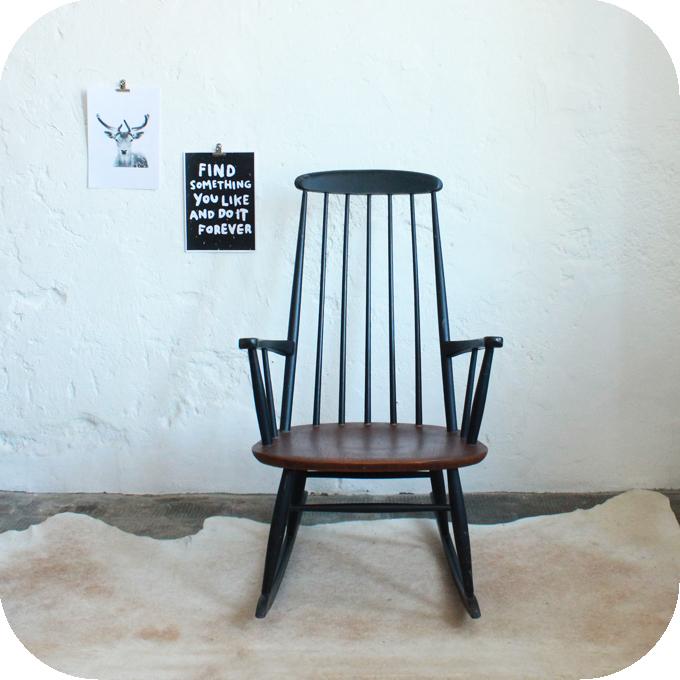 rocking chair farstrup mobler vintage atelier du petit parc. Black Bedroom Furniture Sets. Home Design Ideas