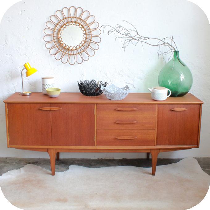 enfilade teck scandinave vintage nantes atelier du petit parc. Black Bedroom Furniture Sets. Home Design Ideas