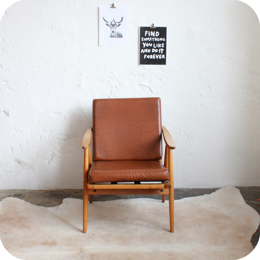 Fauteuil thonet style scandinave mod le boomerang atelier du petit parc - Style scandinave mobilier ...