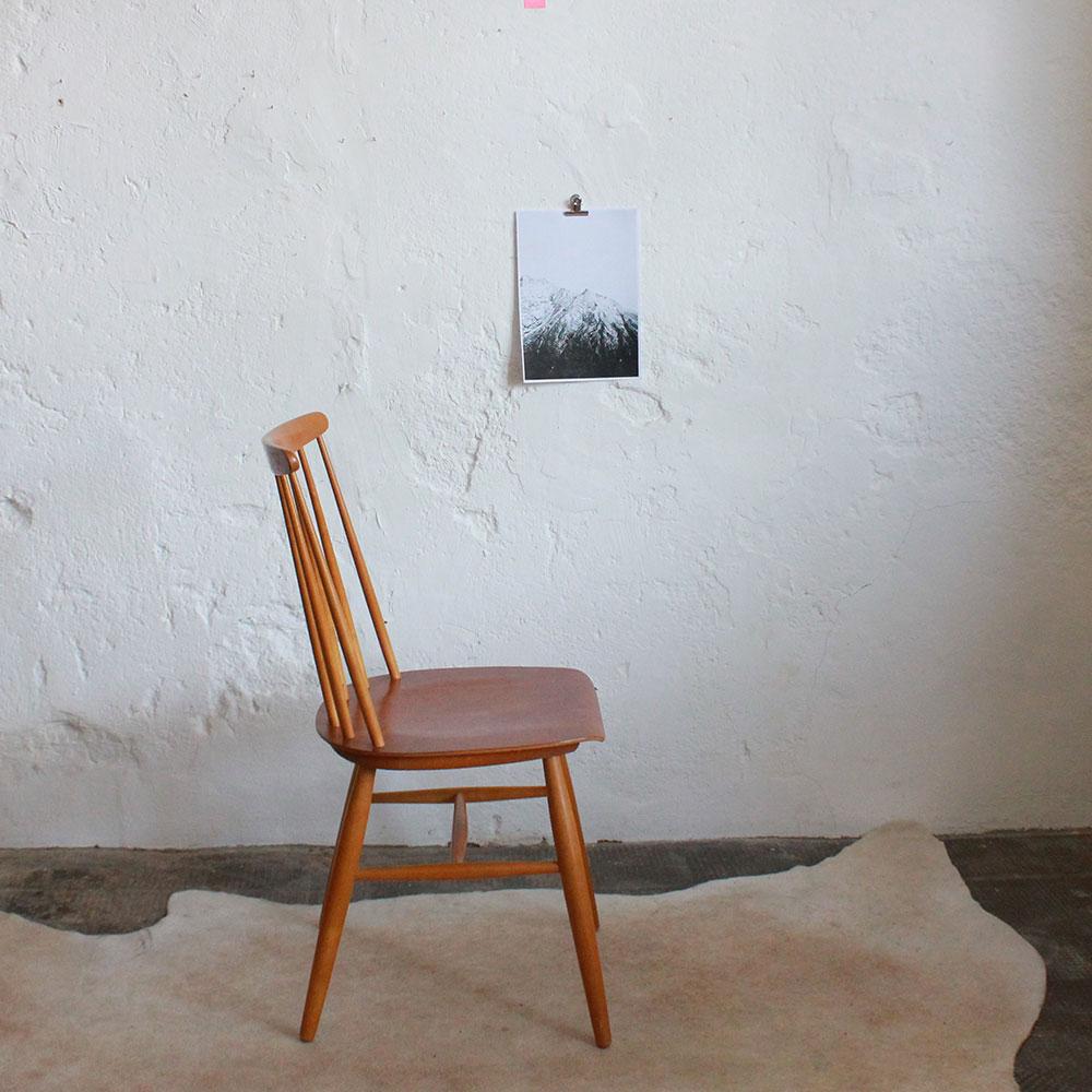 Chaise tapiovaara vintage scandinave atelier du petit parc for Chaise style atelier