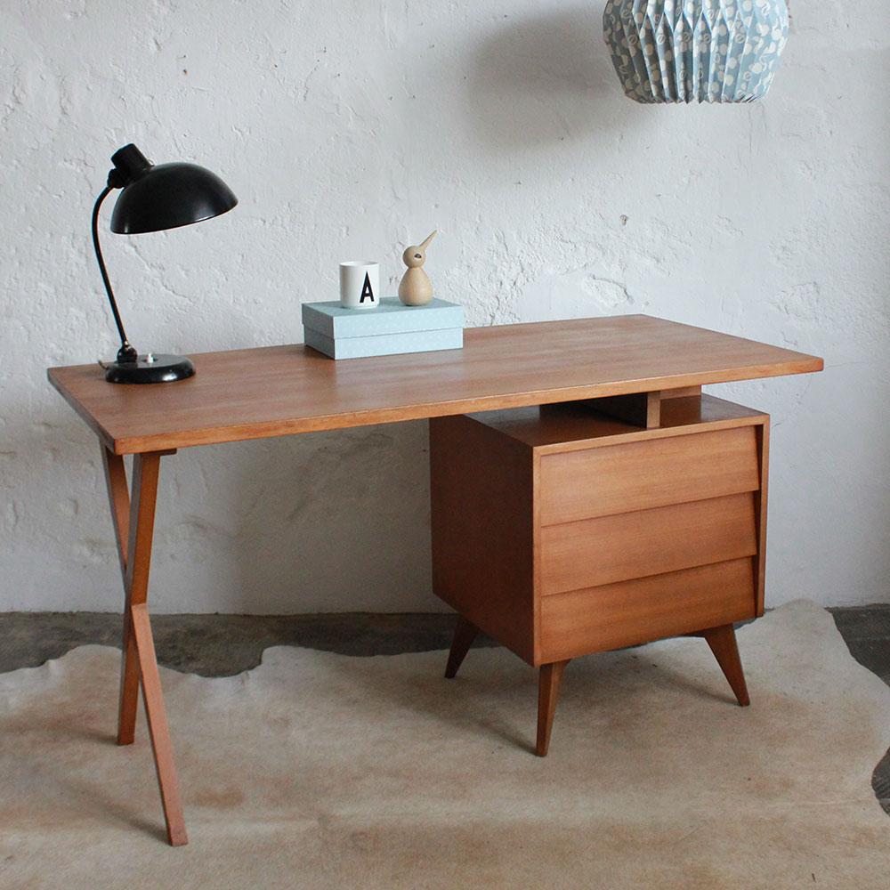 Bureau 39 50 vintage atelier du petit parc - Bureau style atelier ...
