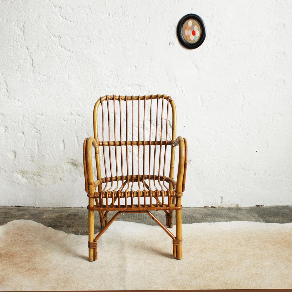 fauteuil rotin enfant vintage accoudoirs e673 a atelier du petit parc. Black Bedroom Furniture Sets. Home Design Ideas