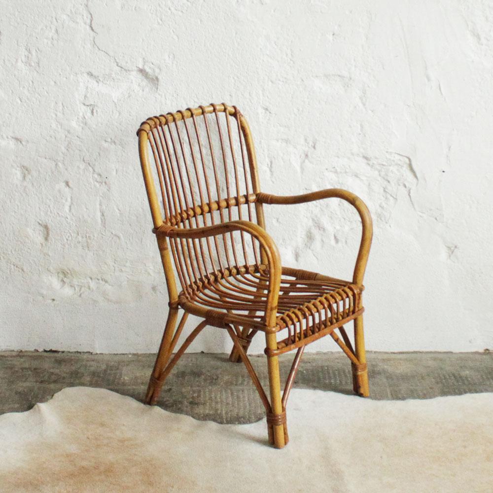 fauteuil rotin vintage atelier du petit parc. Black Bedroom Furniture Sets. Home Design Ideas
