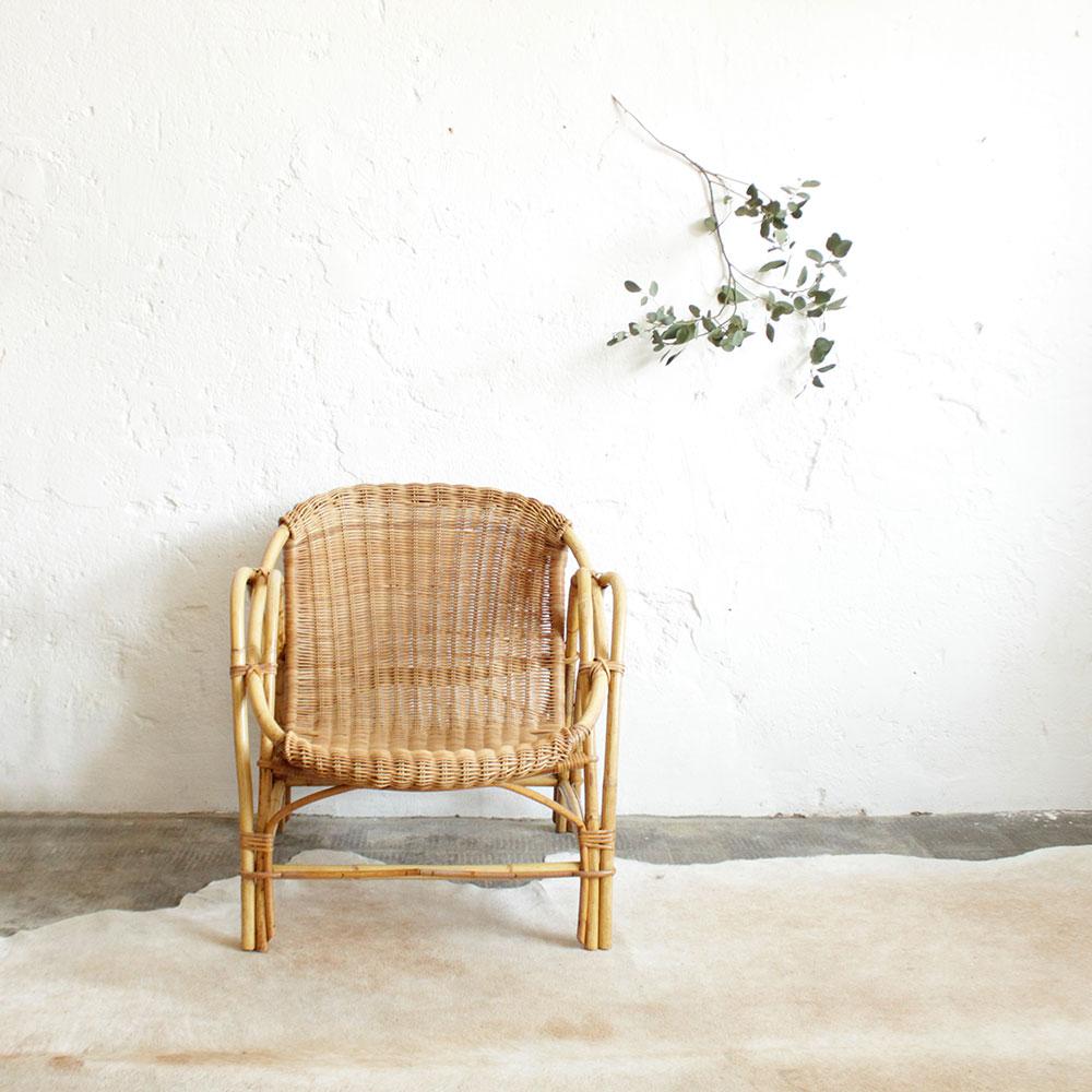 fauteuil rotin vintage tresse f298 a atelier du petit parc. Black Bedroom Furniture Sets. Home Design Ideas
