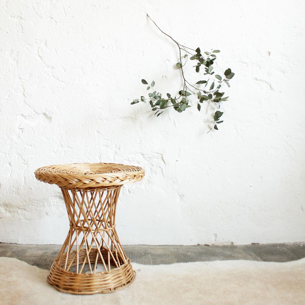 table basse diabolo en osier vintage atelier du petit parc. Black Bedroom Furniture Sets. Home Design Ideas