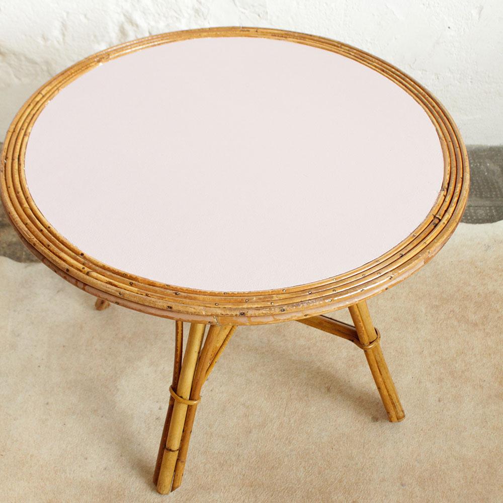 Table Basse Vintage En Rotin Atelier Du Petit Parc