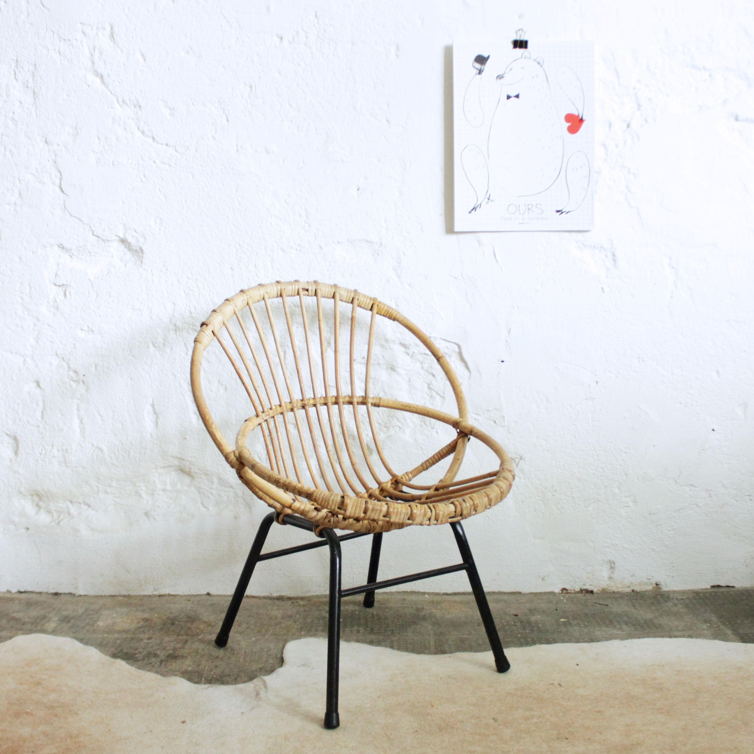 fauteuil rotin ancien nantes atelier du petit parc. Black Bedroom Furniture Sets. Home Design Ideas
