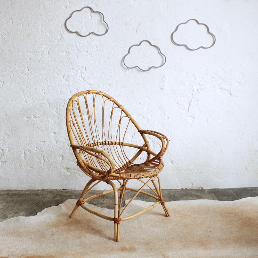 fauteuil rotin vintage ancien atelier du petit parc. Black Bedroom Furniture Sets. Home Design Ideas