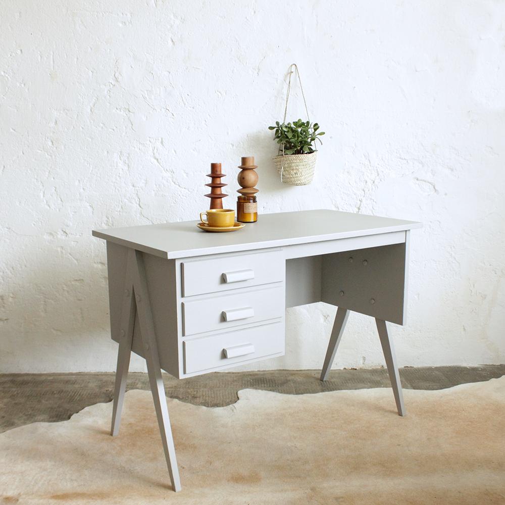 bureau vintage style scandinave atelier du petit parc. Black Bedroom Furniture Sets. Home Design Ideas