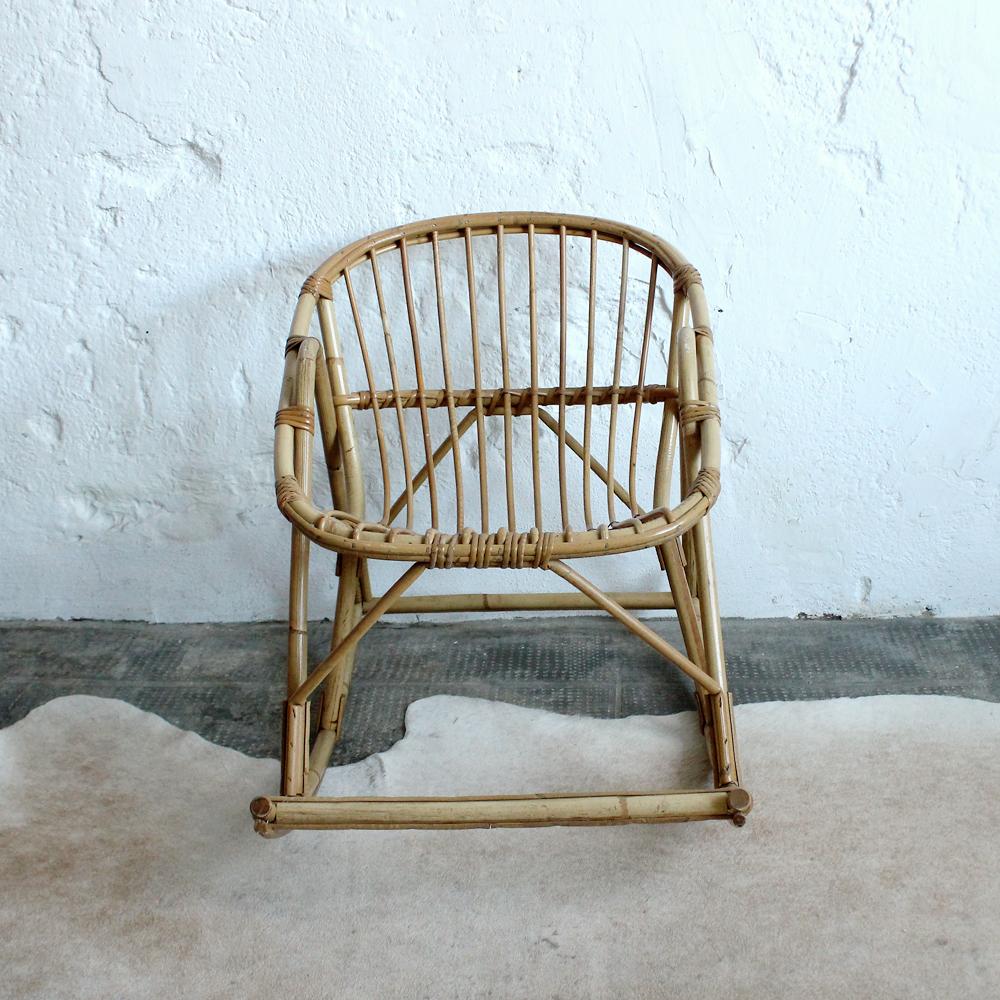 rocking chair rotin vintage enfant atelier du petit parc. Black Bedroom Furniture Sets. Home Design Ideas