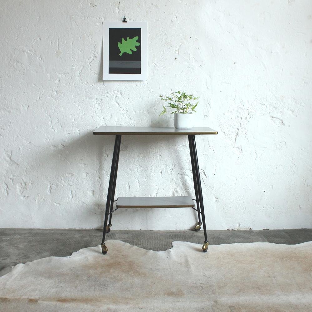 Console meuble télé meuble dappoint des années 50  Atelier du petit parc -> Table À Télé
