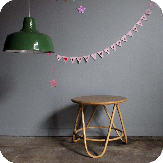 Table Basse Rotin Vintage Tripode B488 Atelier Du Petit Parc