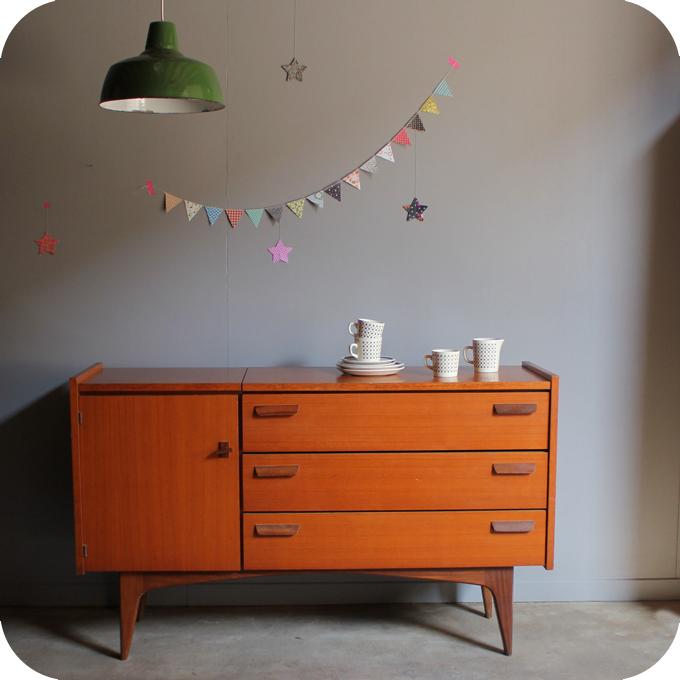 enfilade teck vintage coiffeuse b493 atelier du petit parc. Black Bedroom Furniture Sets. Home Design Ideas