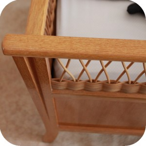 c593 lit bebe vintage bois rotin e atelier du petit parc. Black Bedroom Furniture Sets. Home Design Ideas