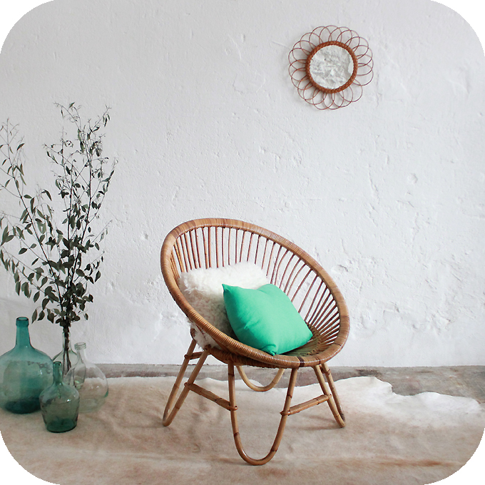 mobilier vintage fauteuil rotin ann es 50 ann es 60 atelier du petit parc. Black Bedroom Furniture Sets. Home Design Ideas