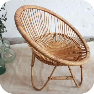 d278 mobilier vintage fauteuil rotin f atelier du petit parc. Black Bedroom Furniture Sets. Home Design Ideas