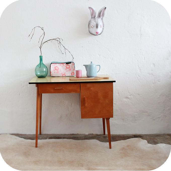 mobilier vintage bureau ann es 50 60 formica atelier du petit parc. Black Bedroom Furniture Sets. Home Design Ideas
