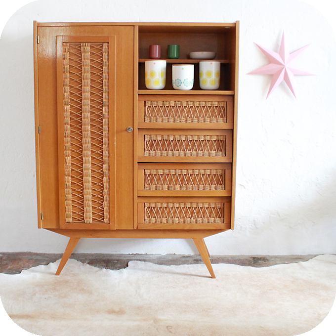 Mobilier Vintage Armoire Commode Vintage Annees 60 Atelier Du
