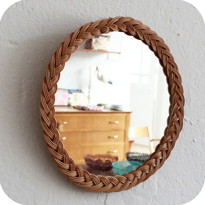 d330 mobilier vintage miroir osier tresse b atelier du petit parc. Black Bedroom Furniture Sets. Home Design Ideas