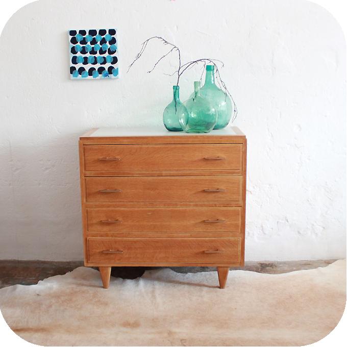 mobilier vintage - commode bois vintage années 50 | Atelier du petit ...
