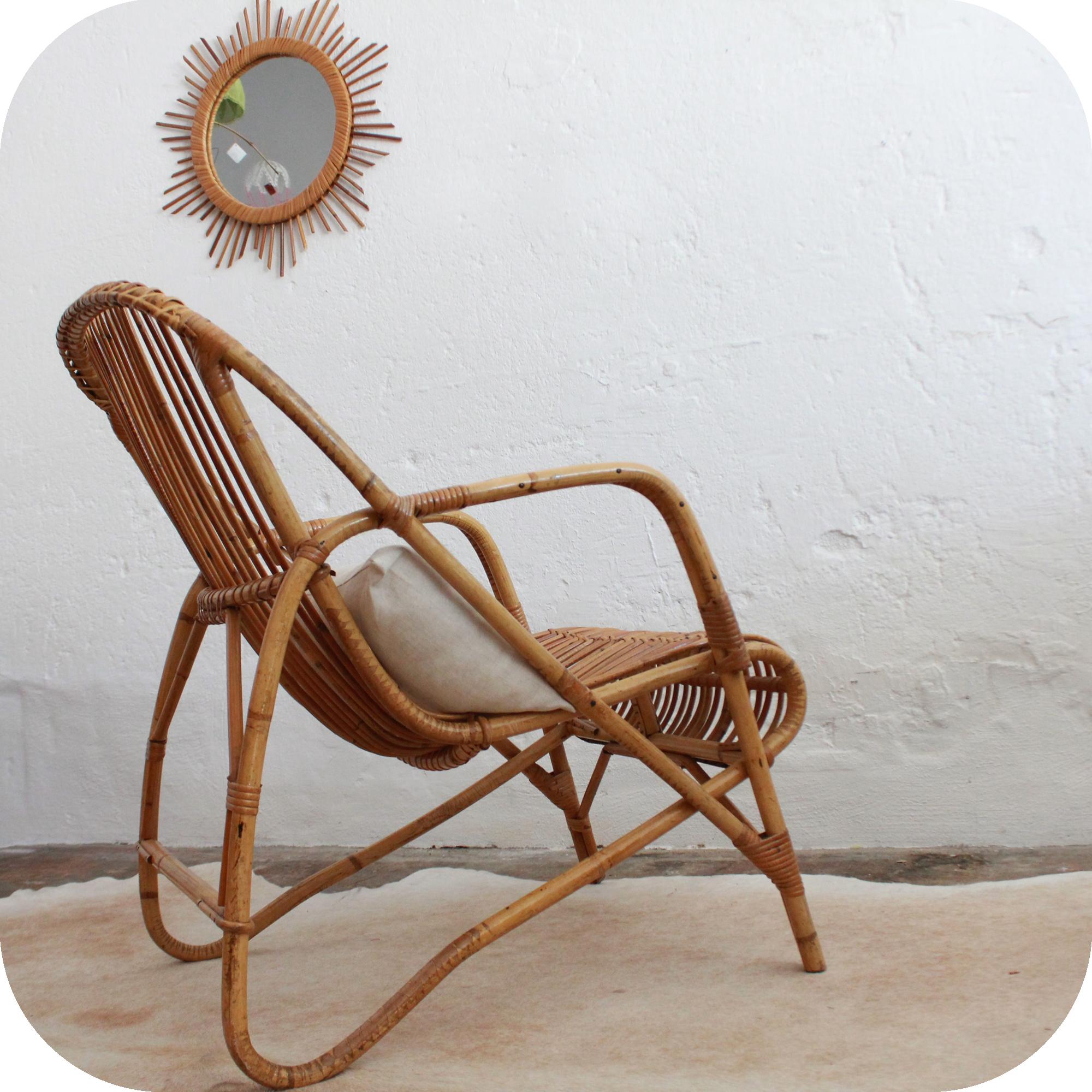 d508_mobilier vintage fauteuil rotin vintage d - Fauteuil Rotin Vintage