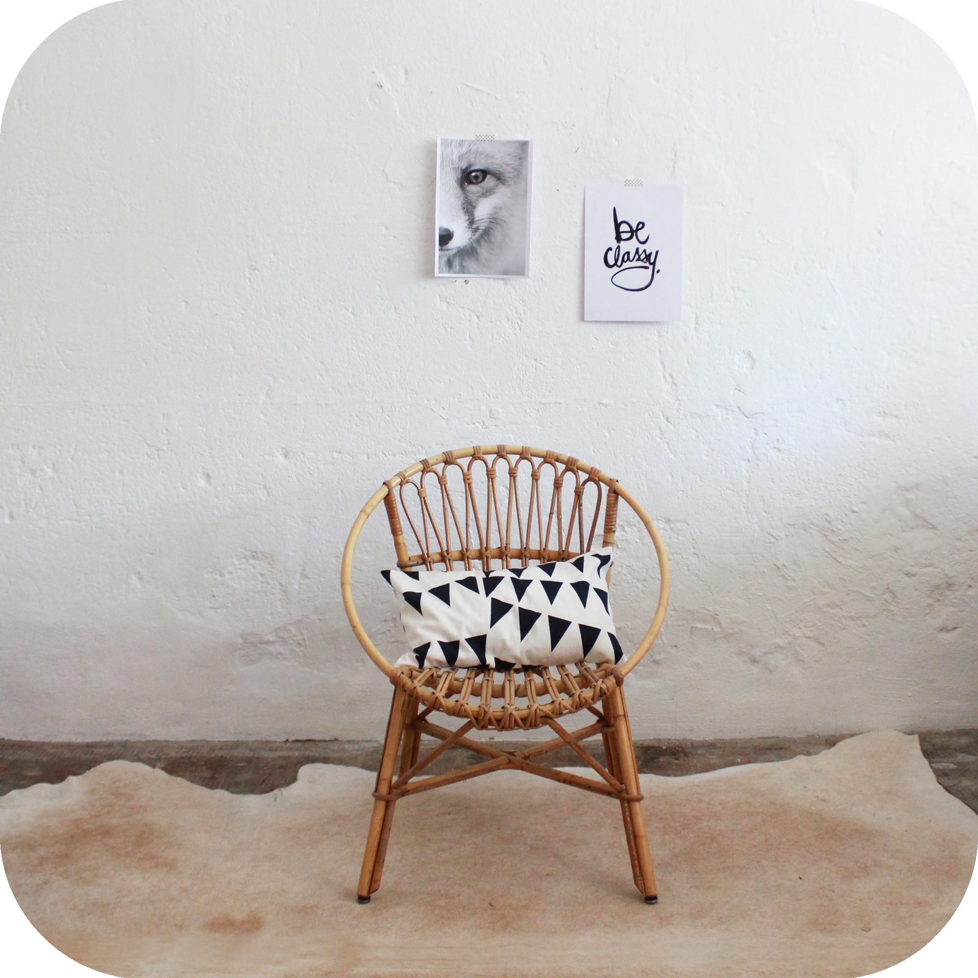 Meuble vintage fauteuil rotin vintage atelier du petit parc for Meuble fauteuil