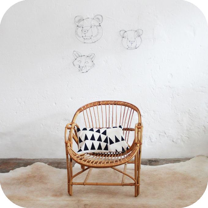 fauteuil rotin vintage meuble vintage atelier du petit parc. Black Bedroom Furniture Sets. Home Design Ideas