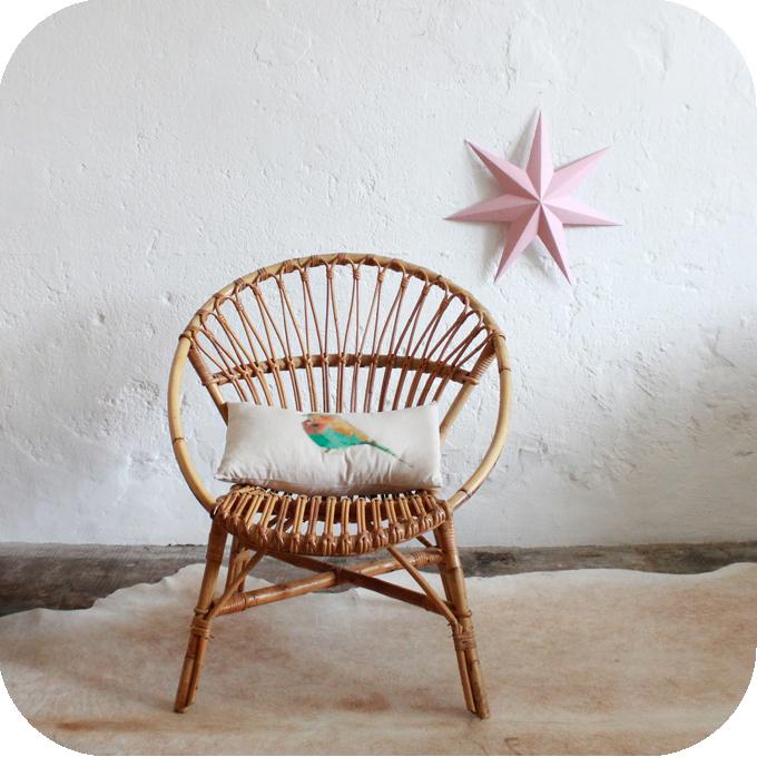 fauteuil rotin vintage mobilier vintage atelier du petit parc. Black Bedroom Furniture Sets. Home Design Ideas