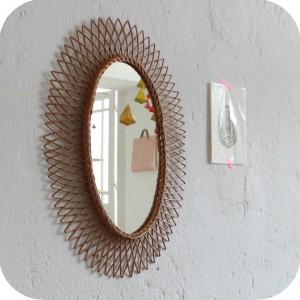 d571 miroir osier vintage d atelier du petit parc. Black Bedroom Furniture Sets. Home Design Ideas