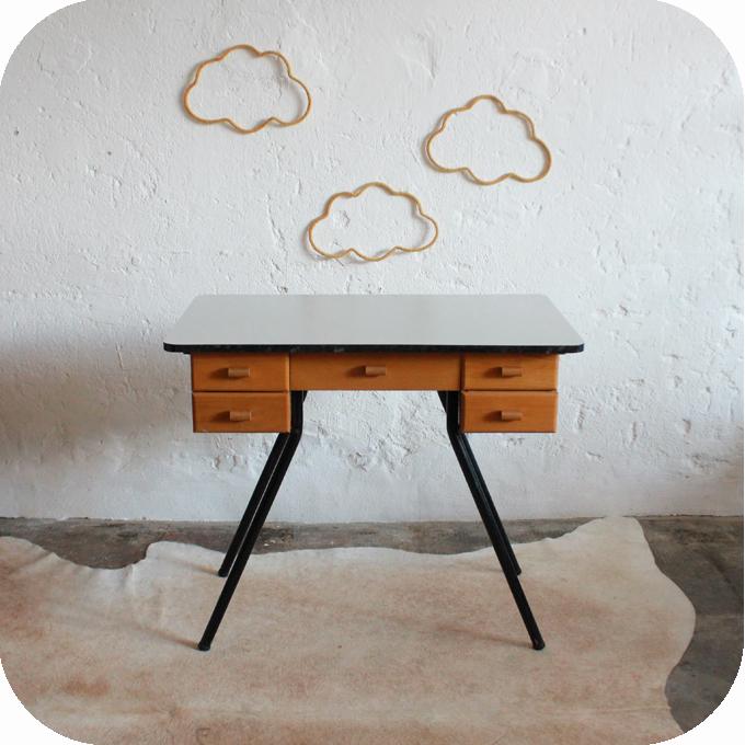 Bureau vintage formica ann es 50 ann es 60 atelier du for Bureau retro