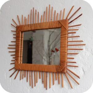 E232 miroir rotin ancien c atelier du petit parc for Theatre du petit miroir