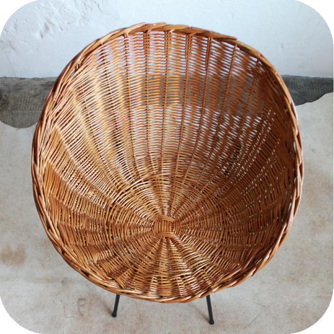 C458 fauteuil osier ancien nantes d atelier du petit parc - Petit fauteuil ancien ...